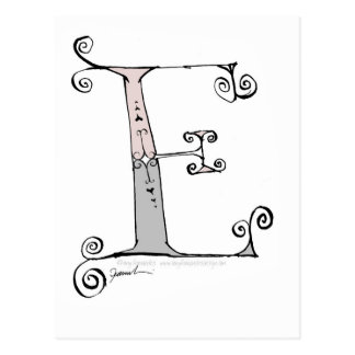 Postal Letra mágica E del diseño tony de los fernandes