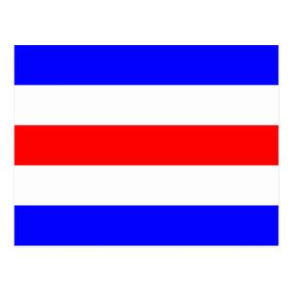 Postal Letra náutica C (Charlie) de la señal de la