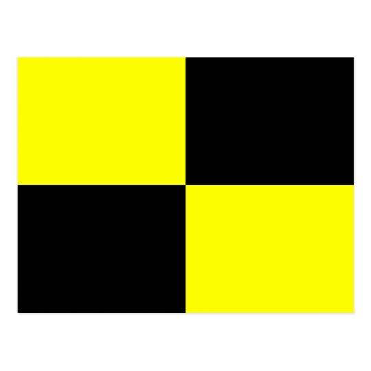 Postal Letra náutica L de la señal de la bandera del
