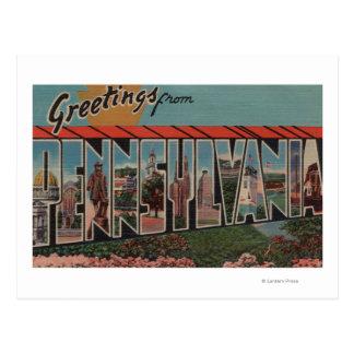 Postal Letra ScenesPennsylvania de PennsylvaniaLarge