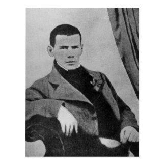 Postal Lev Nikolaevich Tolstoy como estudiante