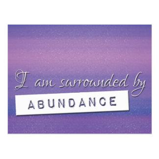 Postal Ley púrpura de la afirmación de la abundancia de