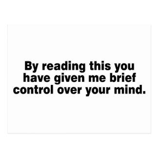 Postal Leyendo esto usted tiene…