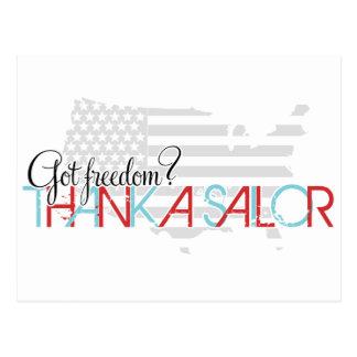 Postal ¿Libertad conseguida? Agradezca a un marinero