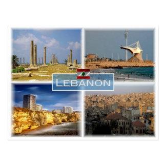 Postal Libra Líbano - Beirut -