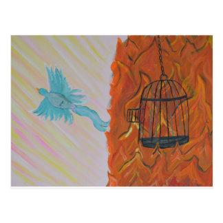 Postal Libre determinado del pájaro