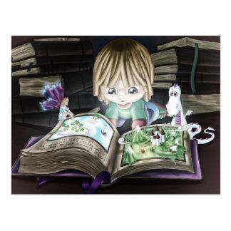 Postal Libro mágico