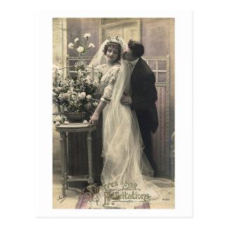 Postal Ligón del francés - amor romántico del vintage