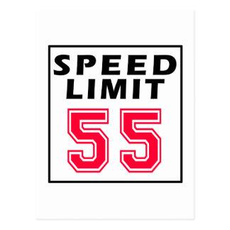 Postal Límite de velocidad 55 diseños del cumpleaños