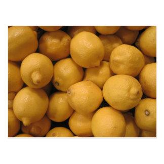 Postal Limones amarillos amargos