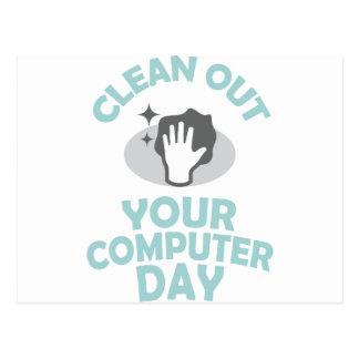Postal Limpie su día del ordenador - día del aprecio