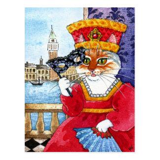 Postal linda del carnaval o de las tarjetas del