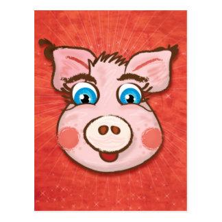 Postal linda del cerdo