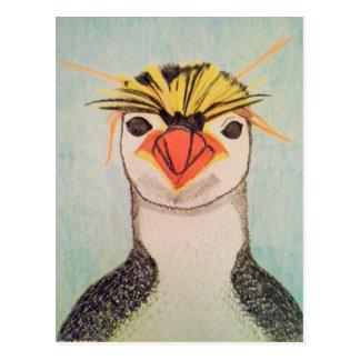 Postal linda del ejemplo del pingüino