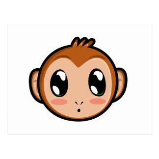 Postal linda del mono de Lil