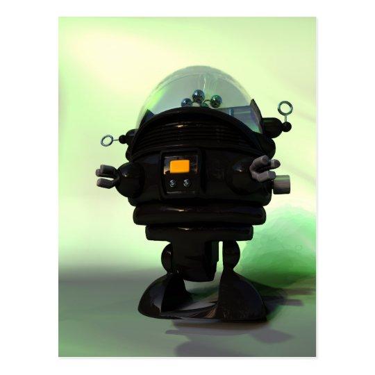 Postal linda del robot del planeta del juguete