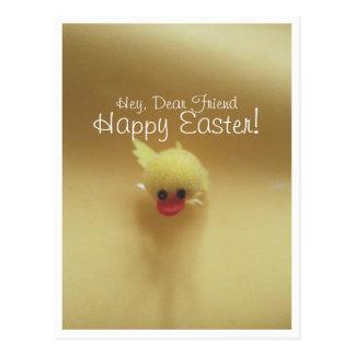 Postal linda feliz del anadón de Pascua