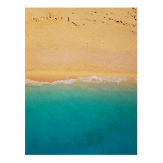 Postal Línea de la playa desde arriba