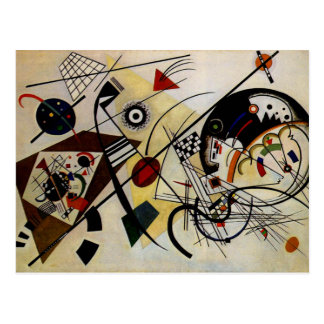 Postal Línea intacta transversal de Kandinsky