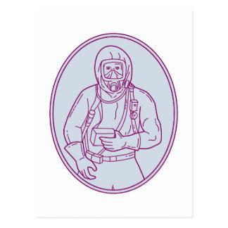 Postal Línea oval del juego de Haz Chem del trabajador