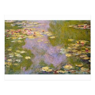 Postal Lirios de agua (1919) por Claude Monet