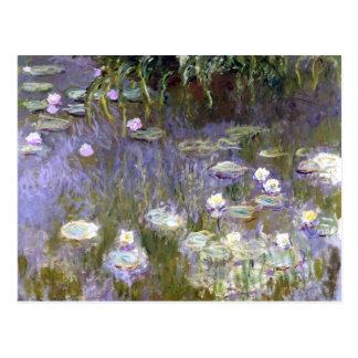 Postal Lirios de agua (c.1922) por Claude Monet
