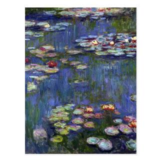 Postal Lirios de agua de Claude Monet