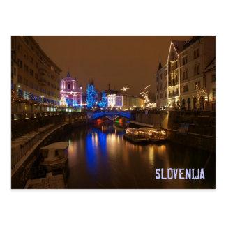 Postal Ljubljana Eslovenia en diciembre