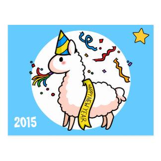 Postal Llama de la Feliz Año Nuevo