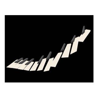 Postal Llaves flotantes del piano