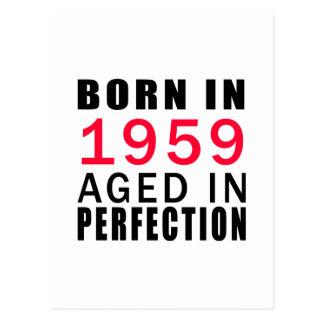 Postal Llevado envejecido en 1959 en la perfección