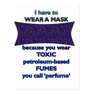 Postal Llevar una máscara porque