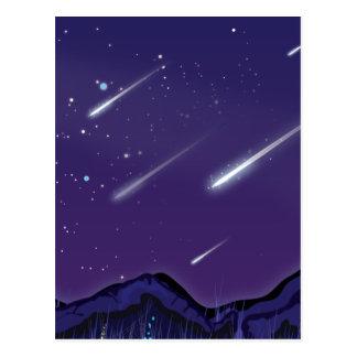 Postal Lluvia de meteoritos
