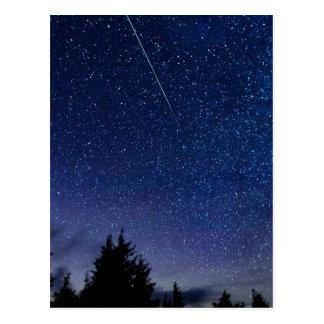 Postal Lluvia de meteoritos de Perseid