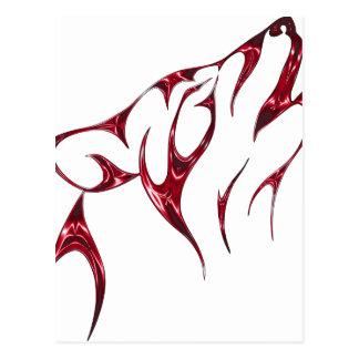 Postal Lobo/lobos frescos del grito