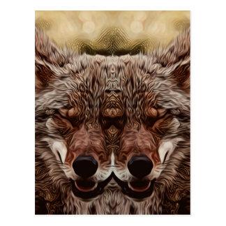 Postal Lobo psicodélico