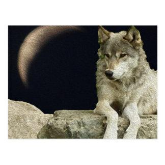 Postal Lobo que se relaja