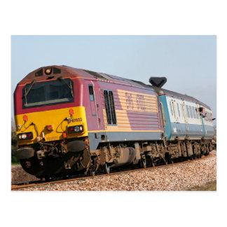 Postal Loco 67022 del diesel de la clase 67 en Dawlish