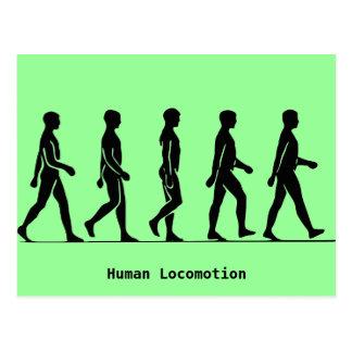 Postal Locomoción humana