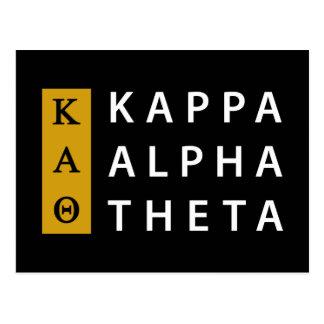 Postal Logotipo apilado el | alfa de la theta de Kappa