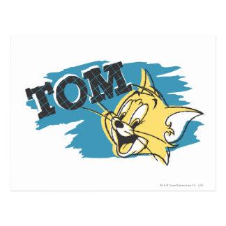 Postal Logotipo azul y amarillo de Tom