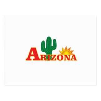 Postal Logotipo de Arizona simple