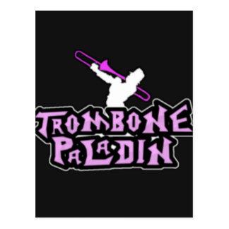 Postal Logotipo de lujo del paladín del Trombone