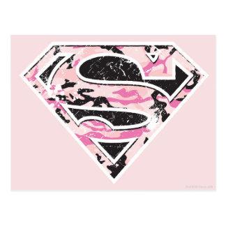 Postal Logotipo del camuflaje de Supergirl