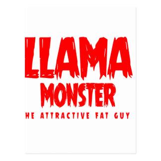 Postal Logotipo del rojo del monstruo de la llama
