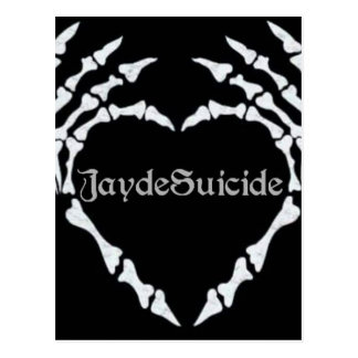 Postal Logotipo del suicidio de Jayde