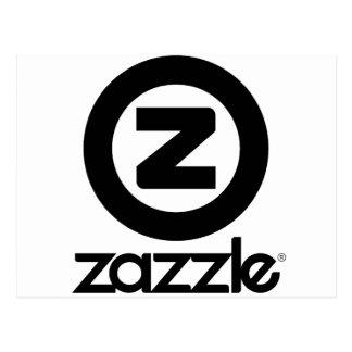 Postal logotipo del zazzle apilado