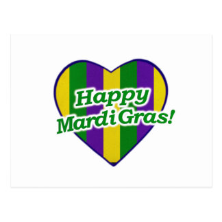 Postal Logotipo feliz del carnaval