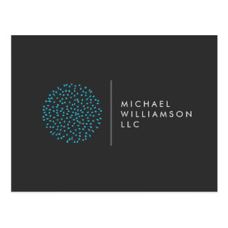 Postal Logotipo moderno profesional del azul de los