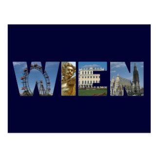 Postal Logotipo Viena Austria de Wien